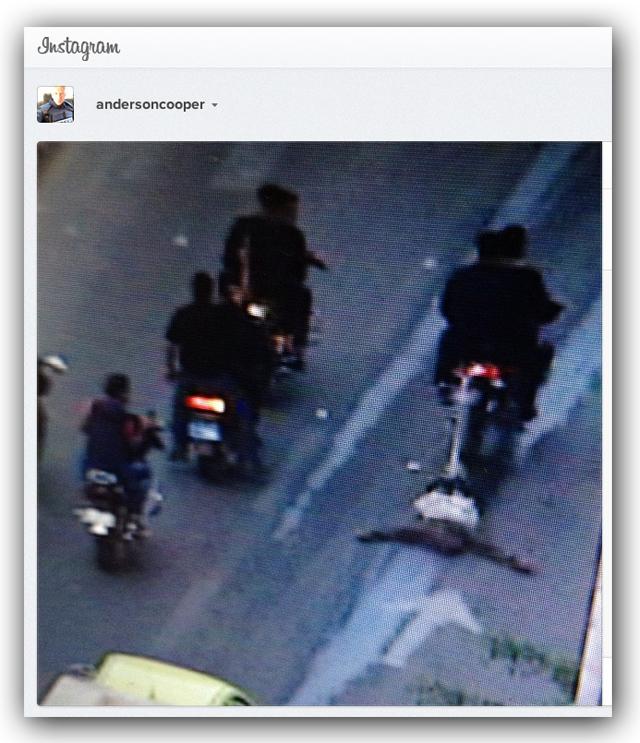 anderson cooper tweet spy dragged hamas gaza