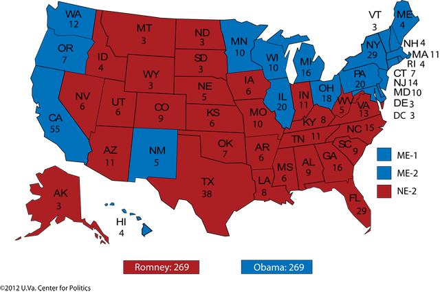 Romney Biden electoral college tie