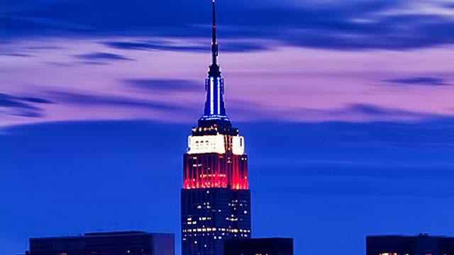 CNN, Empire State Building, US Presidential Election 2012, Barack Obama, Mitt Romney.