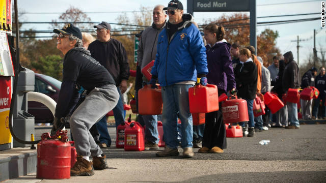 New Jersey, Superstorm Sandy, gas lines