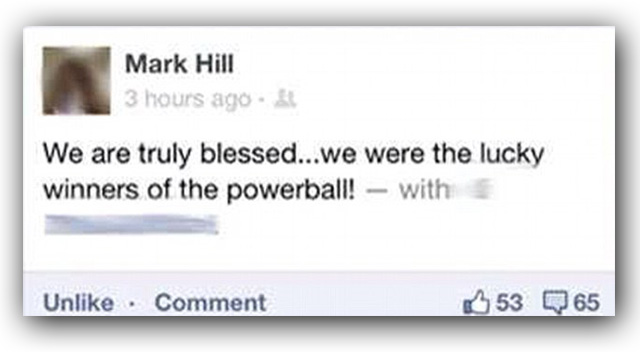 powerball winner mark hill facebook page announcement
