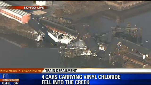 paulsboro train collapse haz-mat NJ