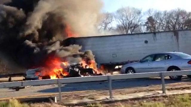 LIE pileup wreck crash fatal