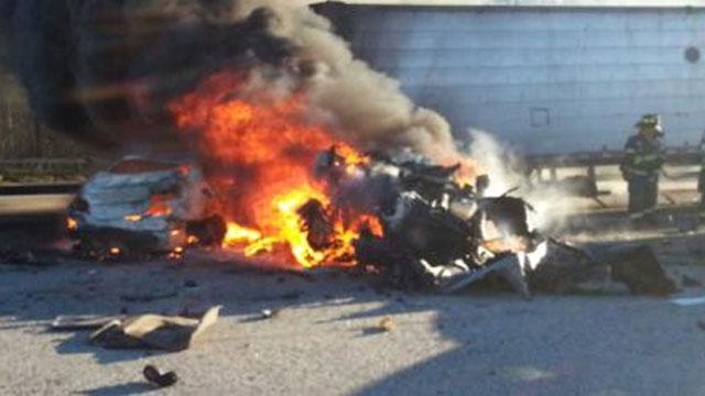 Long Island Expressway pileup crash