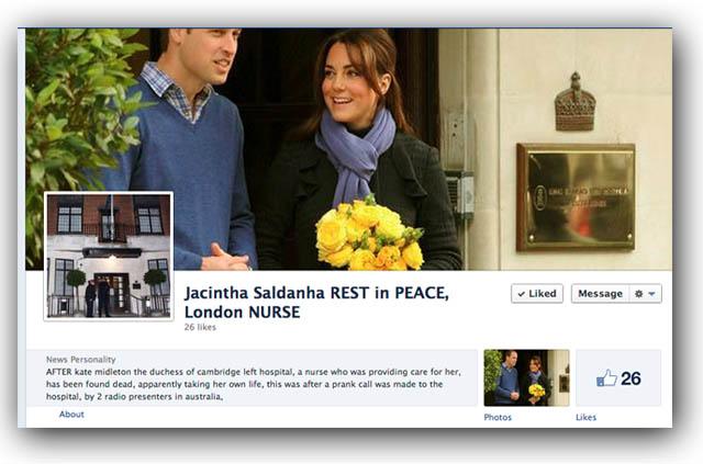Jacintha Saldanha Facebook Suidice