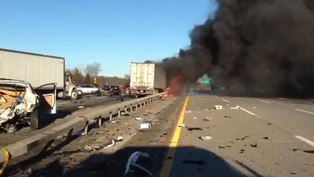 Long Island Expressway Crash 32 cars