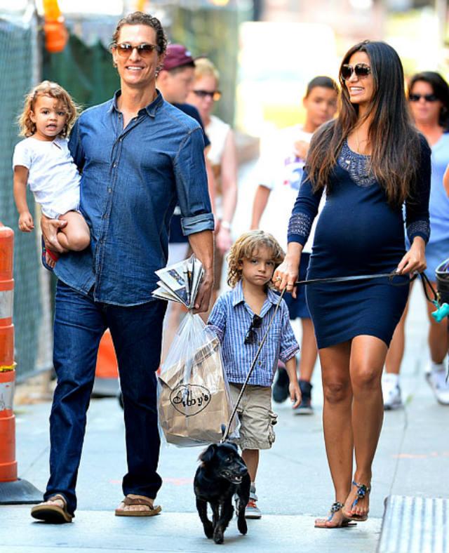 Matthew McConaughey, Camila Alves, baby, family
