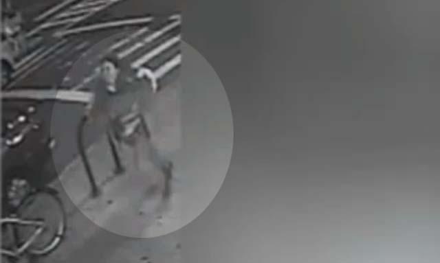 NYC subway shove suspect video queens