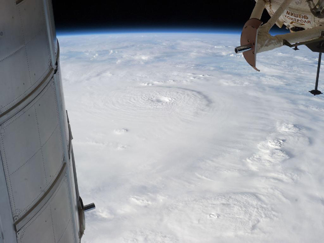 typhoon bopha landfall space