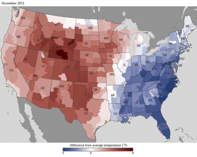 2012 warmest year on record