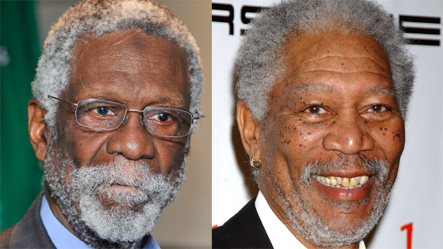 bill russell morgan freeman george stephanopoulos