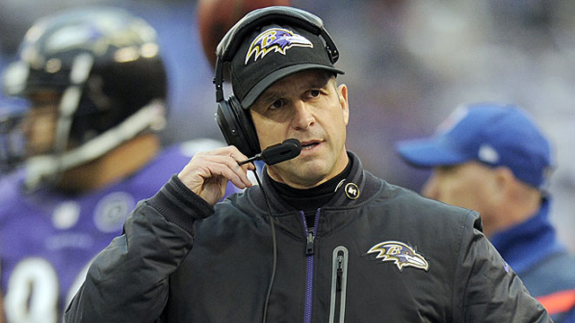 John Harbaugh, head coach of the Baltimore Ravens