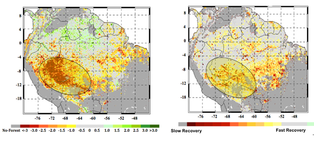 NASA rainforest climate change amazon
