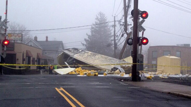 NJ Transit Tractor-Trailer Crash