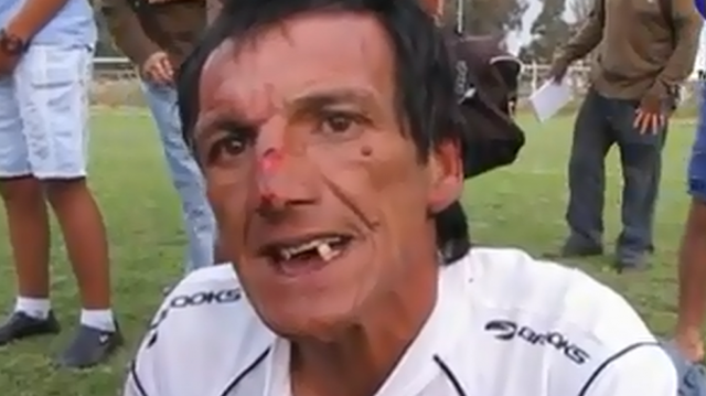 soccer referee attacked chile video