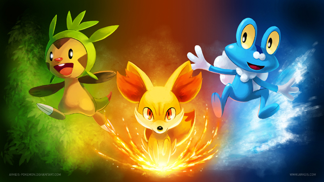 Pokemon X and Y Starter Pokemon