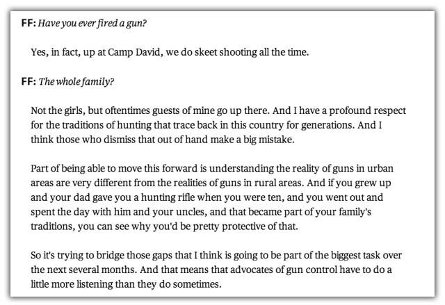 barack obama shoots guns