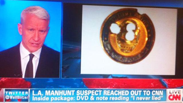 Christopher Dorner Anderson Cooper bullethole coin