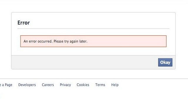 Facebook error, facebook takes over the internet, facebook