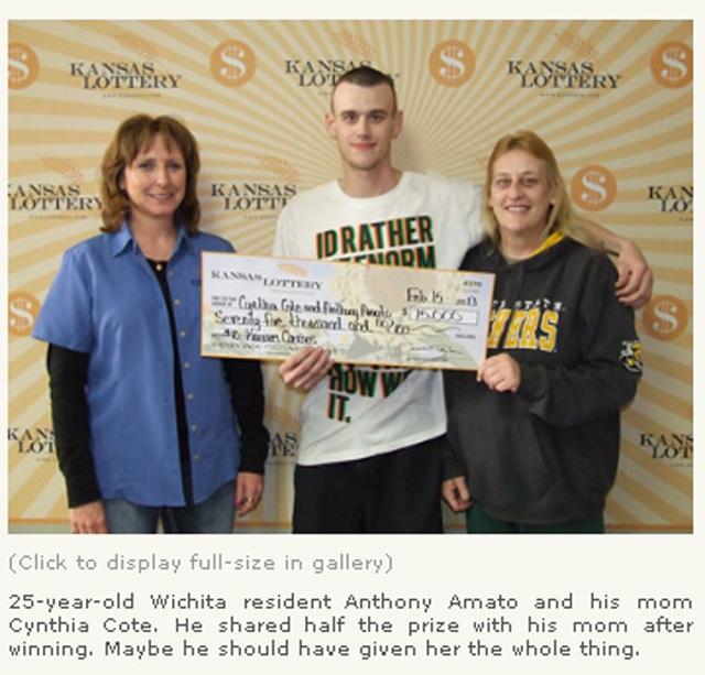 Two brothers win lottery blow up house Wichita Kansas $75,000 lottery win