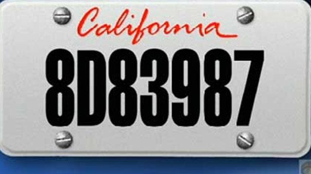 Christopher Jordan Dorner license plate