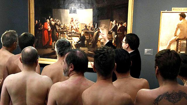 Nude Men Art Exhibit