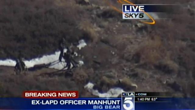 Christopher Jordan Dorner manhunt, Big Bear Lake, Nissan Titan Truck, burned out