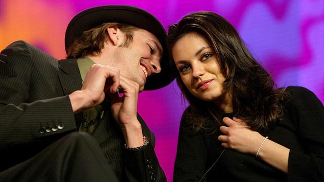 Ashton and Mila Kunis