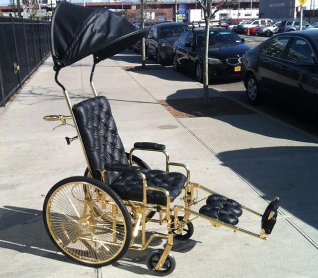 Lady Gaga gets a 24-karat gold plated wheelchair