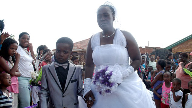 An eight-year-old boy married a 61-year-old woman in South Africa