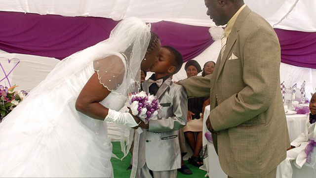 An eight-year-old boy married a 61-year-old woman in South Africa. It was a ritual to appease ancestors