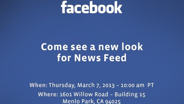 Come see a new look for News Feed, Facebook changes to Newsfeed.