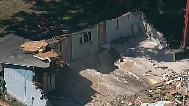 Sinkhole that ravaged Bush's home
