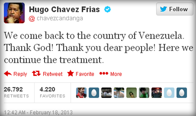 Hugo Chavez's Twitter