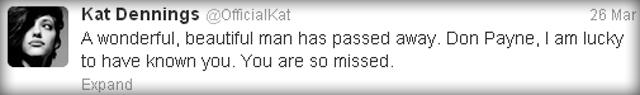 Kat Denning's Tweet