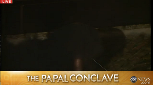 Papal conclave Vatican Cardinals, New Pope White Smoke Chimney Black Smoke Chimney.