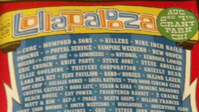 Lollapalooza Leaked Concert Lineup