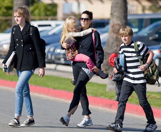 Jesse James; kids used to live with Sandra Bullock.
