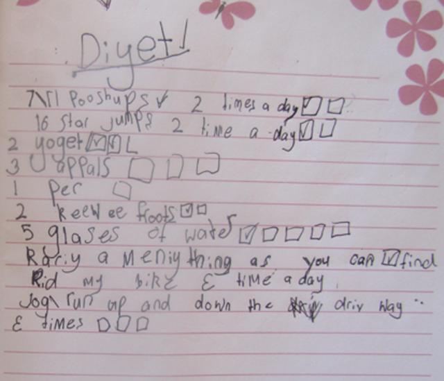 7-year-old's diet plan