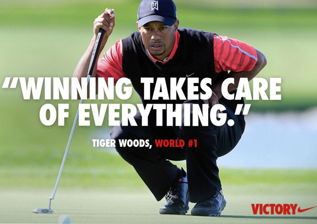 New Tiger Woods Nike Ad Winning takes care of everything controversial Tiger Woods ad