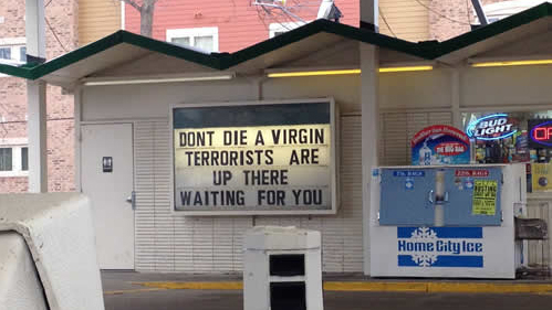 dont die a virgin gas station
