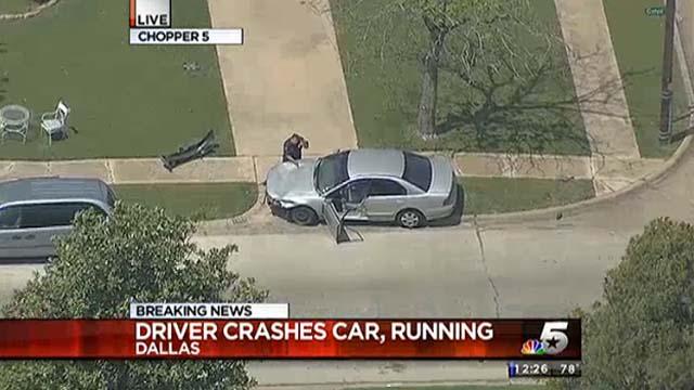 Car chase abandoned car