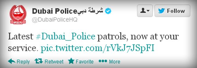 Dubai Police Tweet