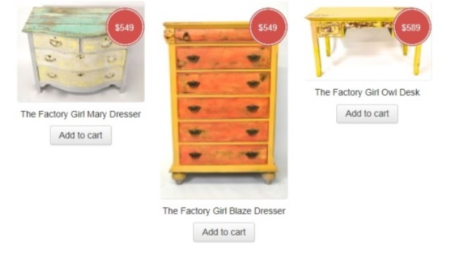 Custom Made Furniture, Celebrity Brand, Sean Lowe, The Factory Girl