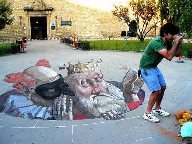 Eduardo Rolero Sidewalk Chalk Art