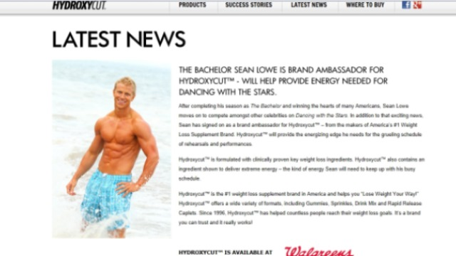 Sean Lowe, Sean Lowe Abs, Hydroxycut, DWTS, Dancing With The Stars