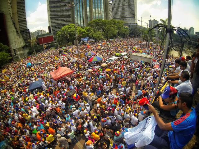 venezuela election demonstration opposition