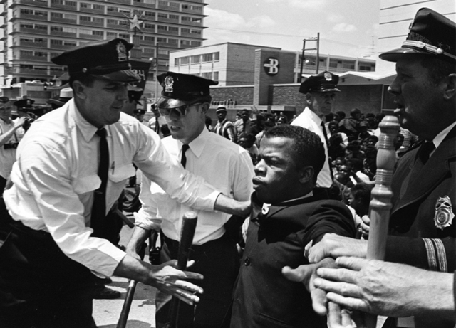Lewis During Civil Rights Demonstration