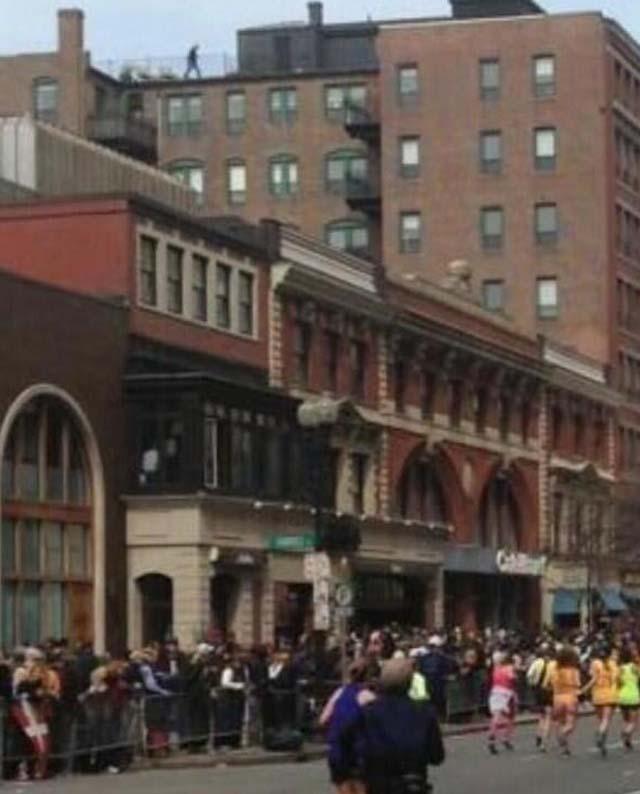 Boston bombing suspect photo, Boston marathon photo.