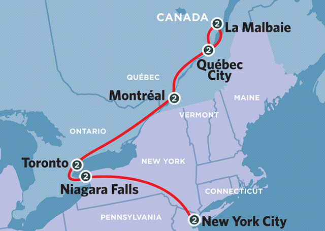 International train route in question
